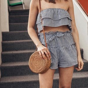 Gingham two piece set.